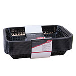 Tablecraft C1077BK Cash And Carry Grande Baskets, 10.75 x 7.75 x 1.5-in, Rectangular, Black
