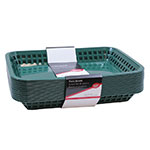 "Tablecraft C1079FG Cash And Carry Mas Grande Baskets, 11.75 x 8.5 x 1.5"", Rectangular, Forest Green"