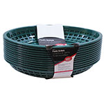 "Tablecraft C1084FG Cash And Carry Jumbo Baskets, 11.75 x 8-7/8 x 1-7/8"", Oval, Forest Green"