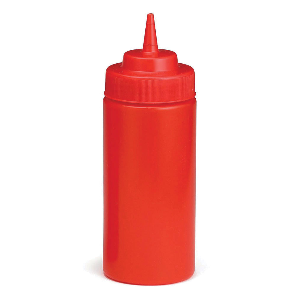 Tablecraft C10853K Cash And Carry Wide Mouth Squeeze Dispenser, 8-oz.,Ketchup