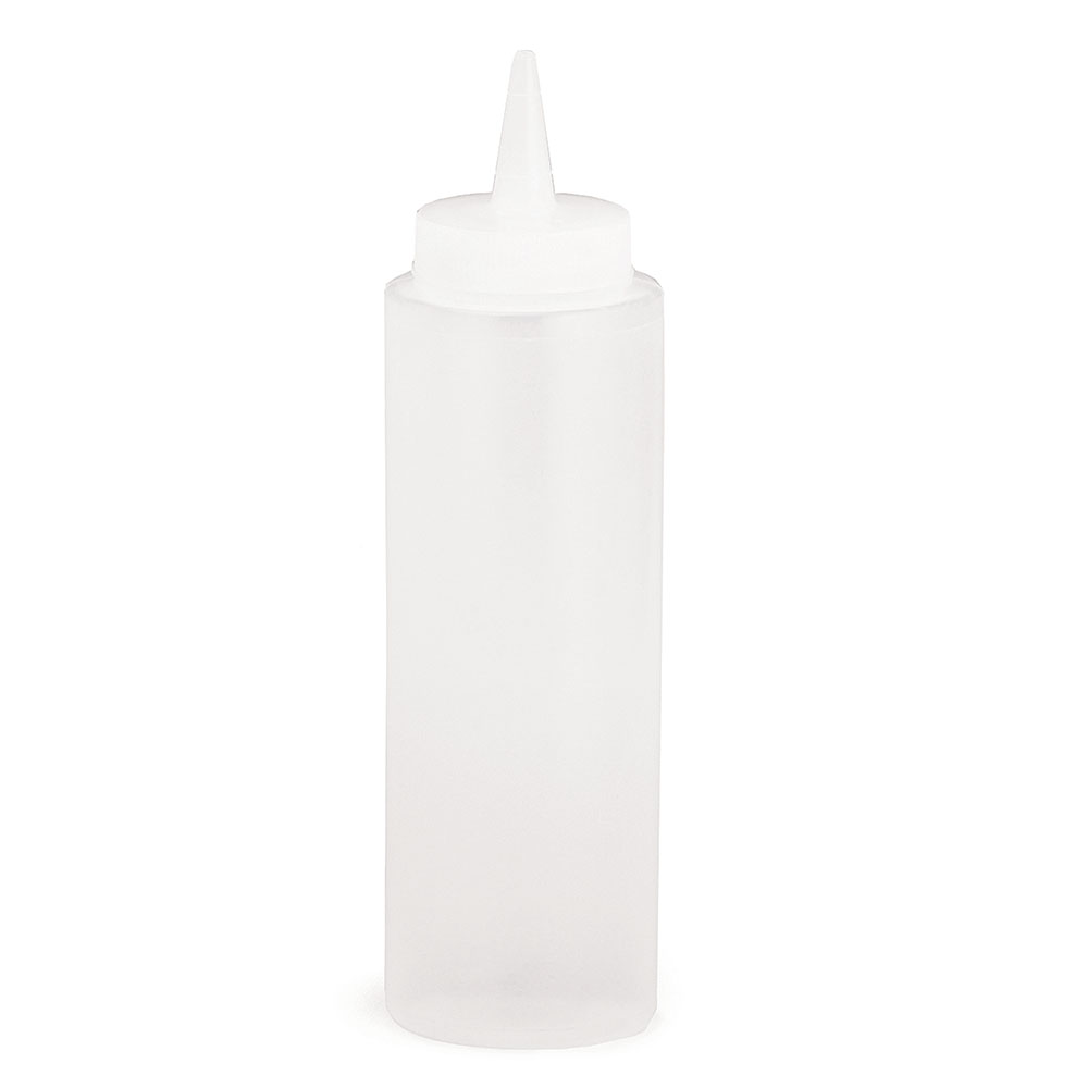 Tablecraft C108C Cash And Carry Squeeze Dispenser, 8-oz, Clear
