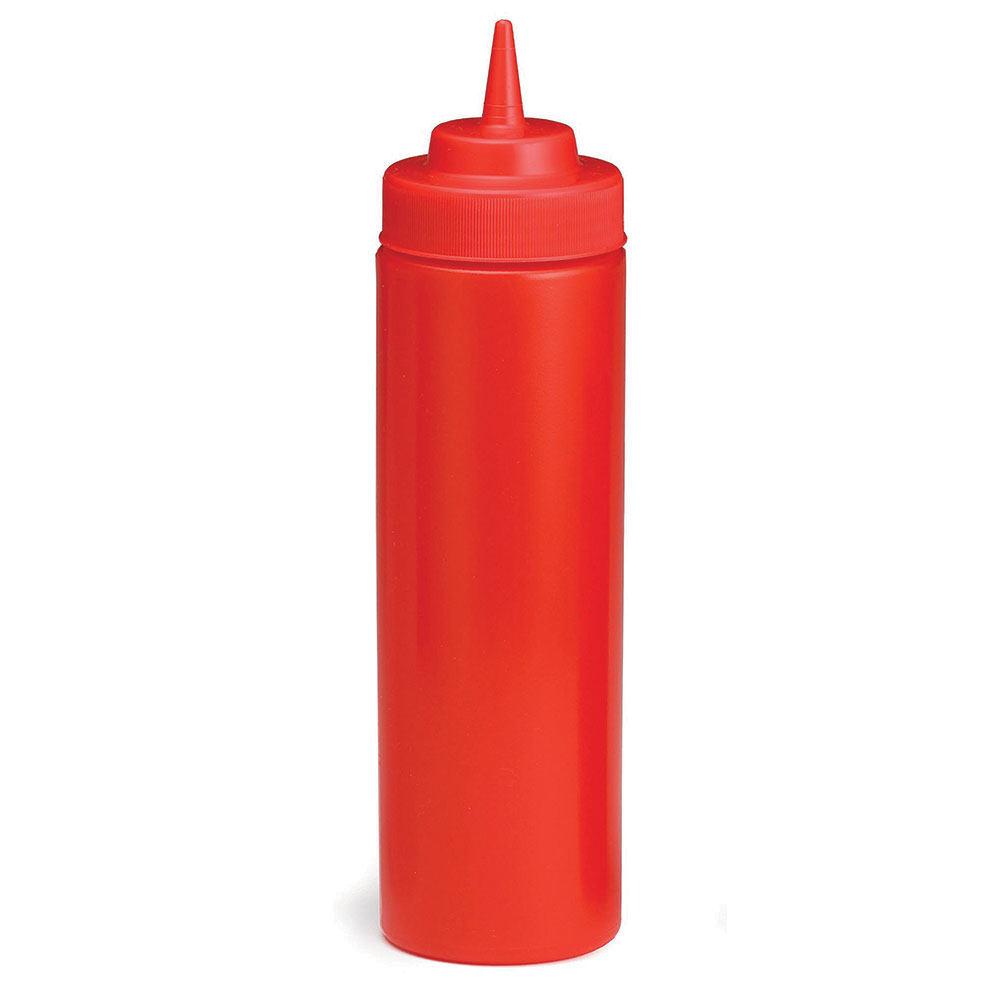 Tablecraft C11253K Cash And Carry WideMouth Squeeze Dispenser 12-oz Red Restaurant Supply
