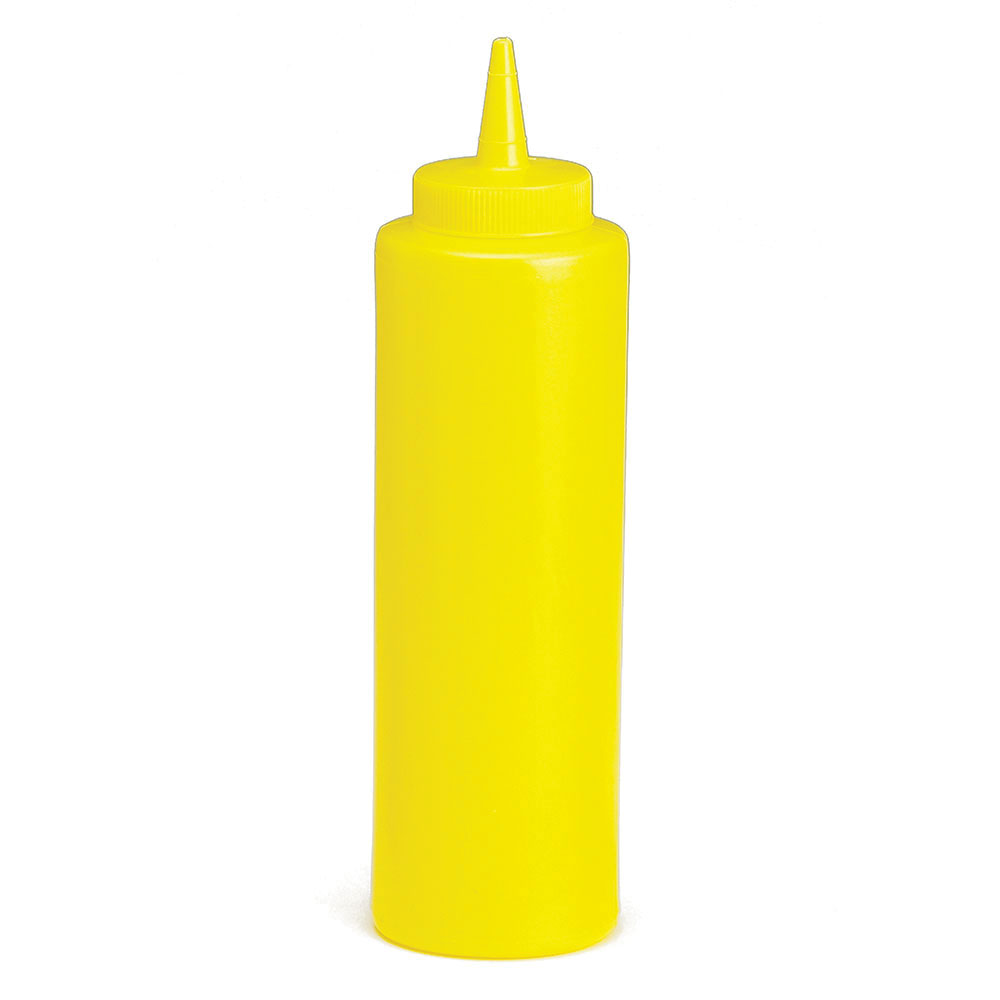Tablecraft C112M Cash And Carry Squeeze Dispenser, 12-oz, Yellow