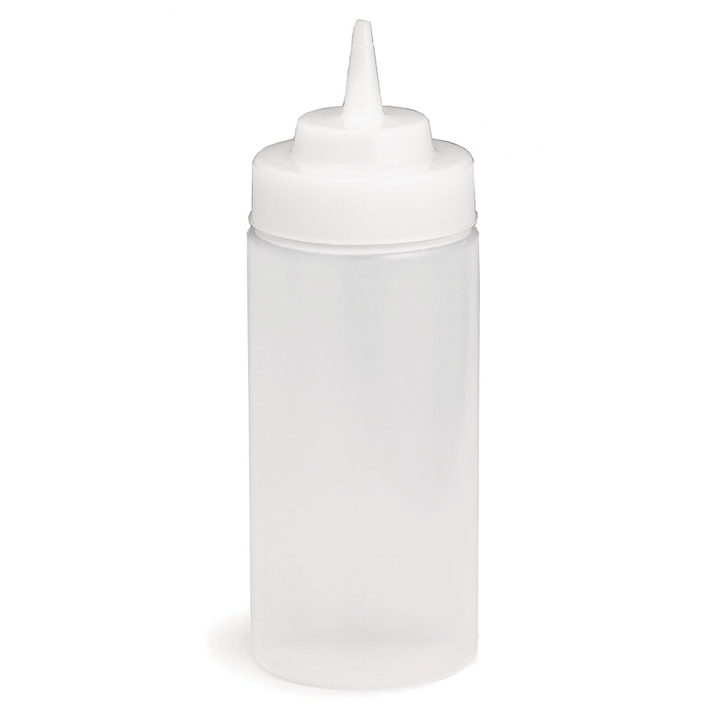 Tablecraft C11663C Cash And Carry Wide Mouth Squeeze Dispenser, 16-oz, Clear