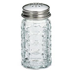 Tablecraft C163-12 Salt Pepper Shaker, 1-1/2 oz. Glass, 18-8 SS Top, Nostalgia