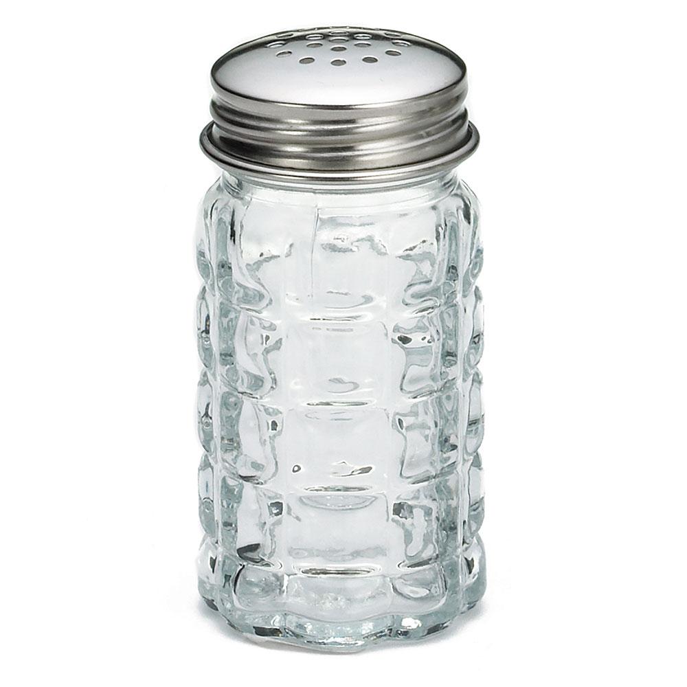 Tablecraft C163-12 Salt Pepper Shaker, 1-1/2 oz. Glass, 18-8 SS Top, Nostalgia