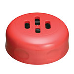 Tablecraft C260SLTRE Plastic Slotted Shaker Top For 6 or 8-oz, Red