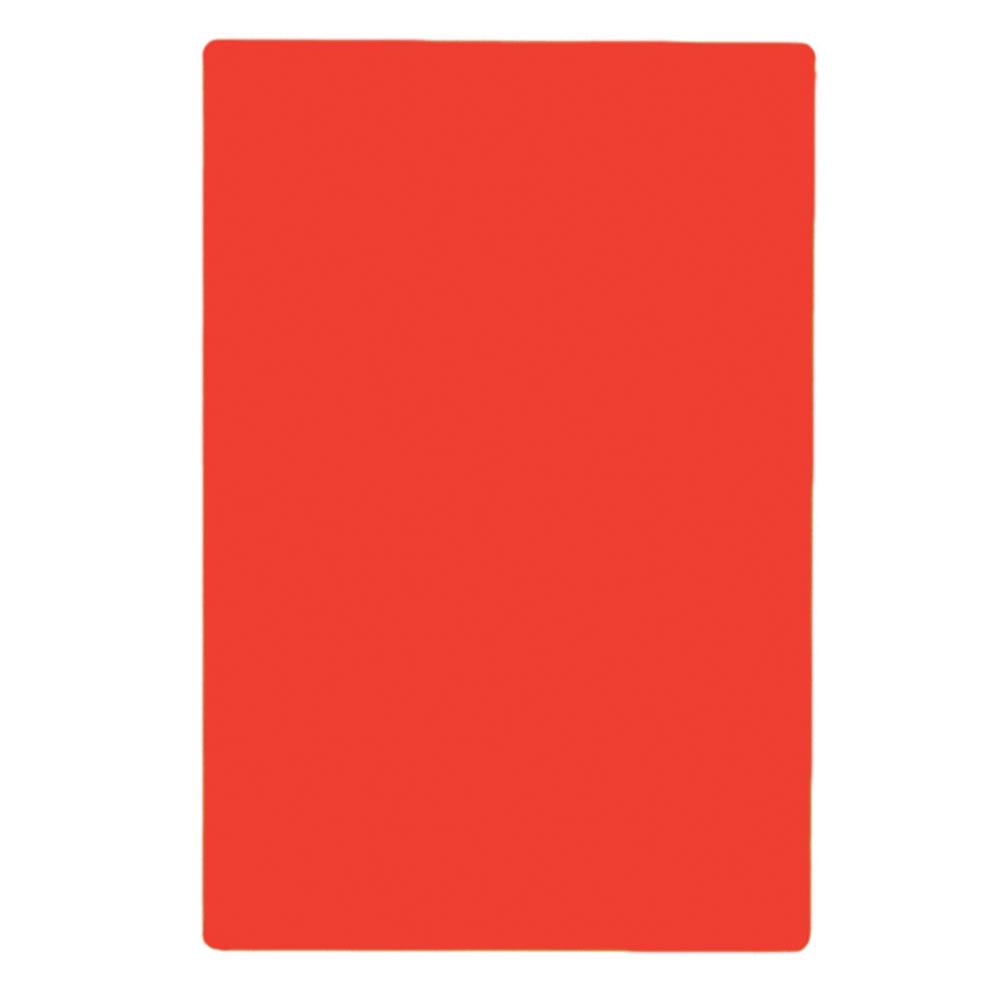 """Tablecraft CB1520RA Red Polyethylene Cutting Board, 15 x 20 x 1/2"""", NSF Approved"""
