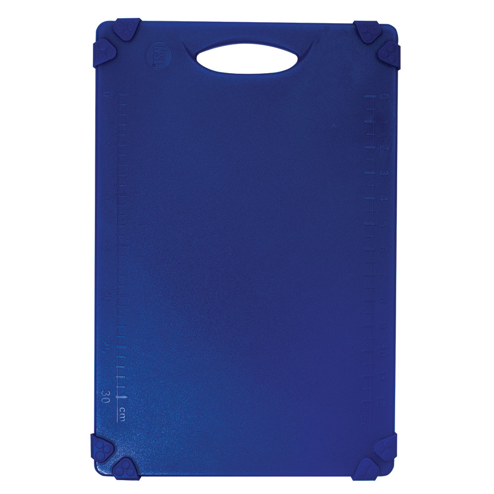 """Tablecraft CBG1218ABL Cutting Board w/ Anti-Slip Grips, 12"""" x 18"""", Polyethylene, Blue"""