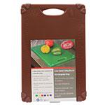 """Tablecraft CBG1218ABR Cutting Board w/ Anti-Slip Grips, 12"""" x 18"""", Polyethylene, Brown"""