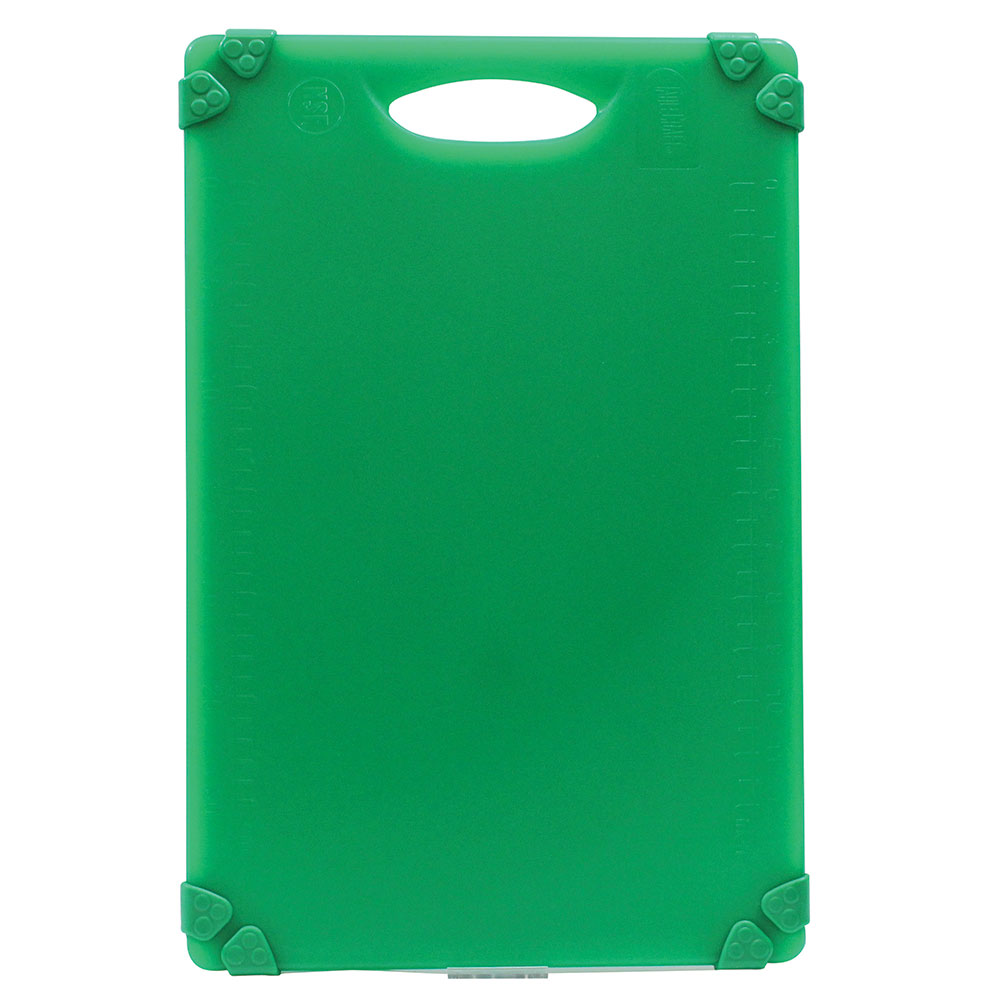 "Tablecraft CBG1218AGN Cutting Board w/ Anti-Slip Grips, 12"" x 18"", Polyethylene, Green"