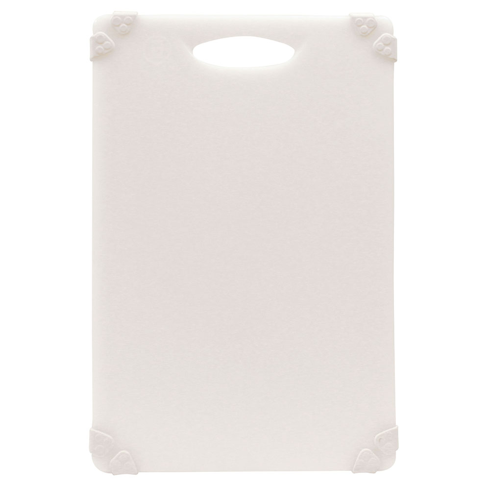 "Tablecraft CBG1218AWH Cutting Board w/ Anti-Slip Grips, 12"" x 18"", Polyethylene, White"