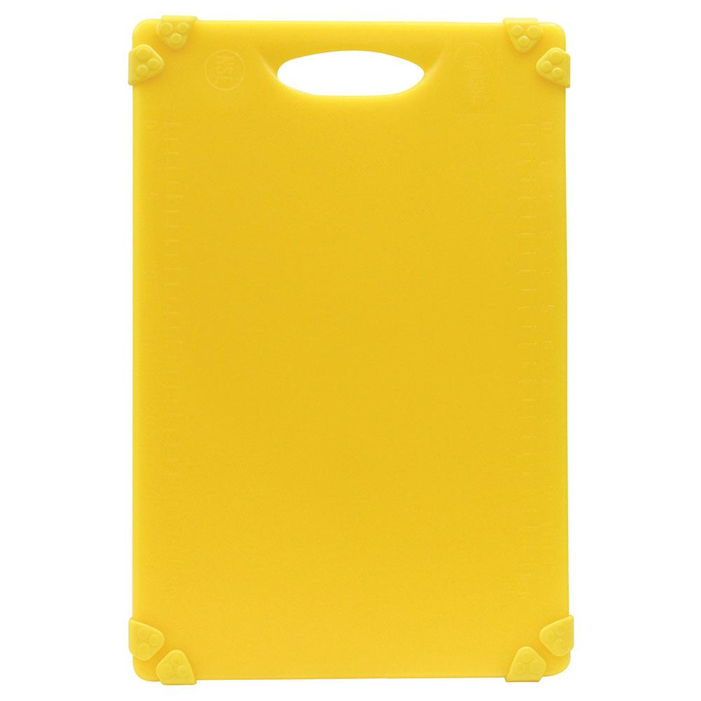 """Tablecraft CBG1218AYL Cutting Board w/ Anti-Slip Grips, 12"""" x 18"""", Polyethylene, Yellow"""