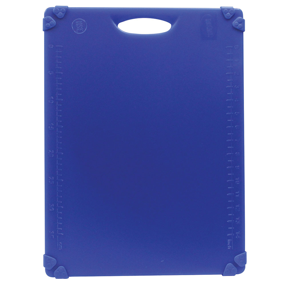 "Tablecraft CBG1520ABL Cutting Board w/ Anti-Slip Grips, 15"" x 20"", Polyethylene, Blue"
