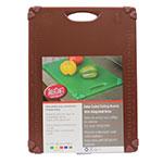 """Tablecraft CBG1520ABR Cutting Board w/ Anti-Slip Grips, 15"""" x 20"""", Polyethylene, Brown"""