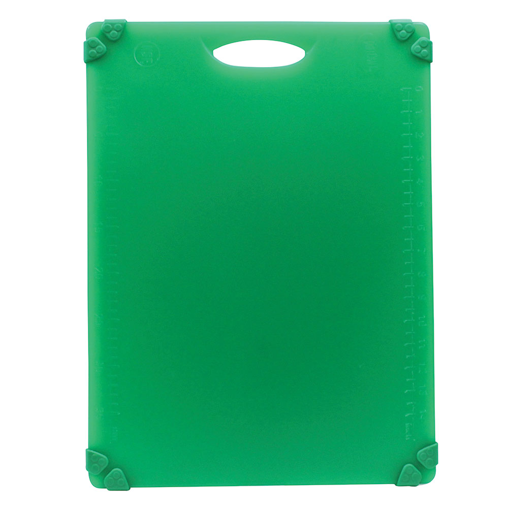 "Tablecraft CBG1520AGN Cutting Board w/ Anti-Slip Grips, 15"" x 20"", Polyethylene, Green"