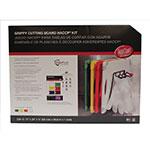 "Tablecraft CBG1520APK4 Cutting Board Kit w/ Anti-Slip Grips, (4) 15"" x 20"" Boards, Polyethylene"