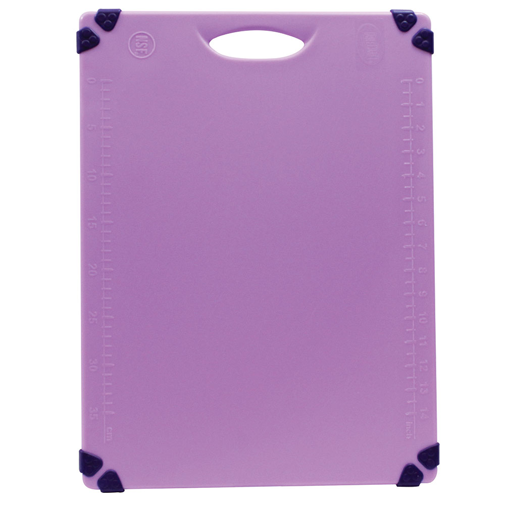 "Tablecraft CBG1520APR Cutting Board w/ Anti-Slip Grips, 15"" x 20"", Polyethylene, Purple"