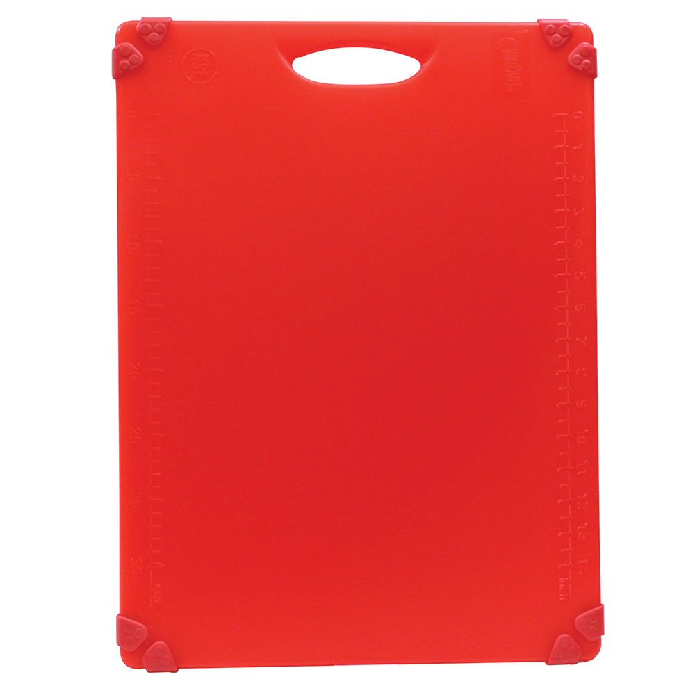 "Tablecraft CBG1520ARD Cutting Board w/ Anti-Slip Grips, 15"" x 20"", Polyethylene, Red"