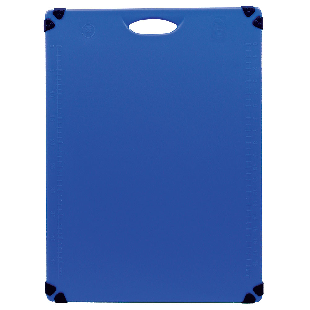 "Tablecraft CBG1824ABL Cutting Board w/ Anti-Slip Grips, 18"" x 24"", Polyethylene, Blue"