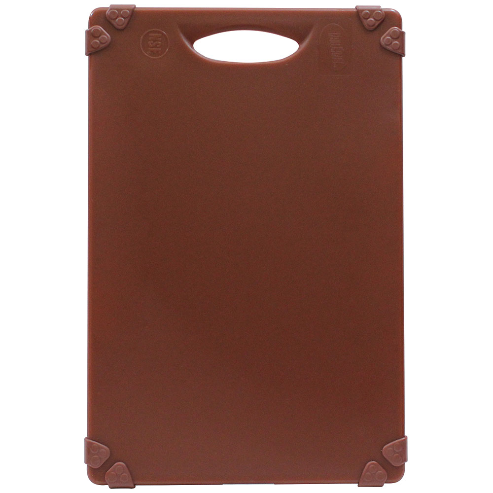 "Tablecraft CBG1824ABR Cutting Board w/ Anti-Slip Grips, 18"" x 24"", Polyethylene, Brown"