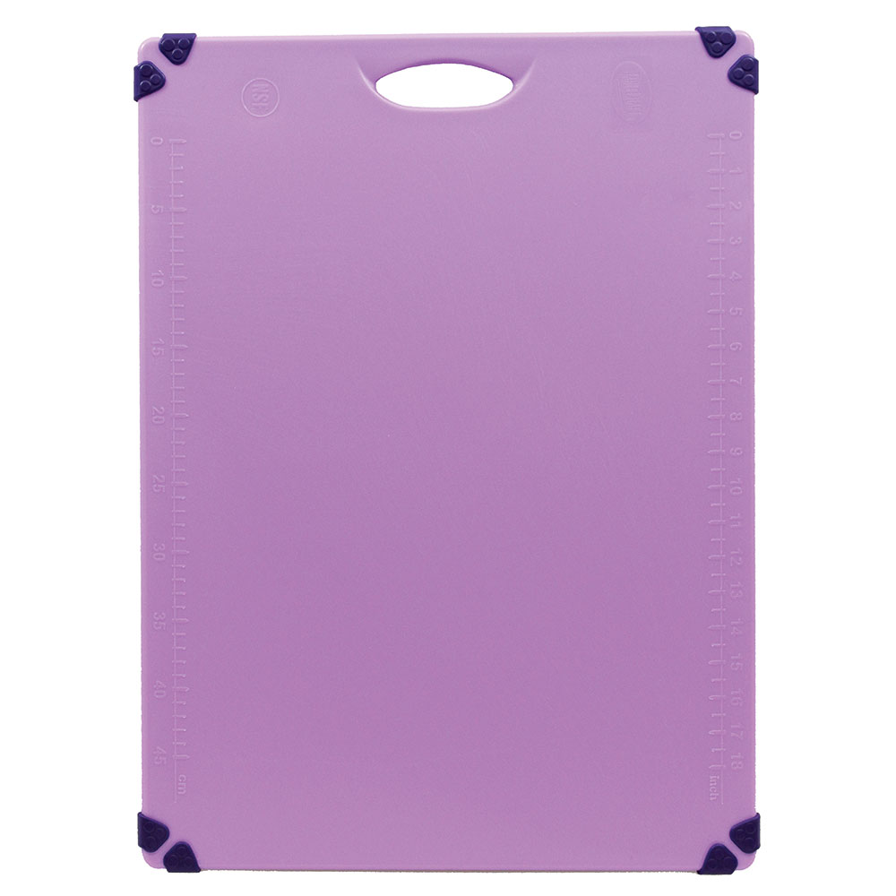 "Tablecraft CBG1824APR Cutting Board w/ Anti-Slip Grips, 18"" x 24"", Polyethylene, Purple"