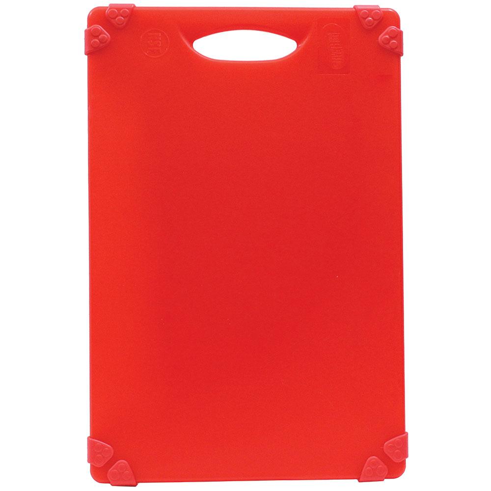 """Tablecraft CBG1824ARD Cutting Board w/ Anti-Slip Grips, 18"""" x 24"""", Polyethylene, Red"""