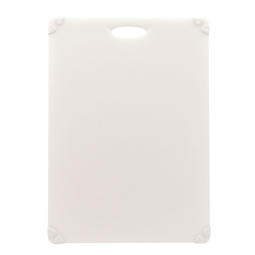 "Tablecraft CBG1824AWH Cutting Board w/ Anti-Slip Grips, 18"" x 24"", Polyethylene, White"