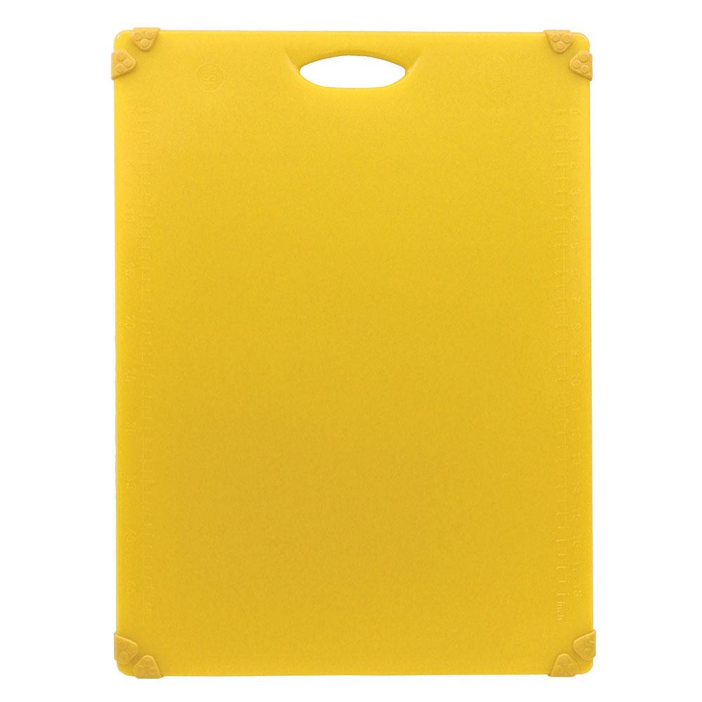 """Tablecraft CBG1824AYL Cutting Board w/ Anti-Slip Grips, 18"""" x 24"""", Polyethylene, Yellow"""