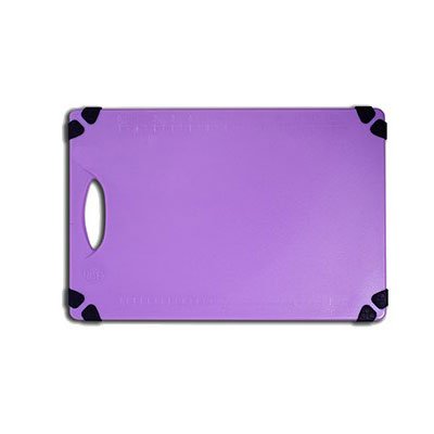 "Tablecraft CBG912APR Cutting Board w/ Anti-Slip Grips, 9"" x 12"", Polyethylene, Purple"