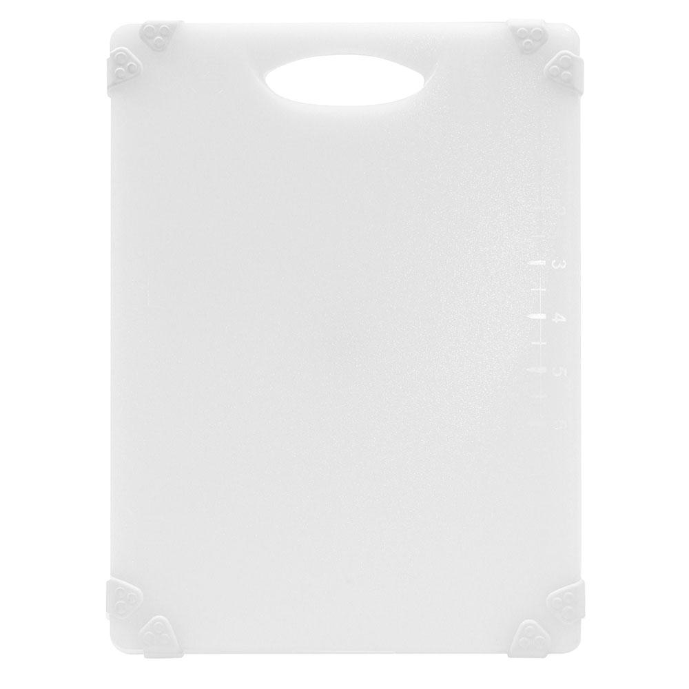 """Tablecraft CBGW912AWH Cutting Board w/ Anti-Slip Grips, 9"""" x 12"""", Polyethylene, White"""