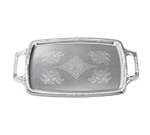 Tablecraft CT1220H Rectangular Serving Tray w/ Handles, 12.5 x 19.5 in, Chrome Plated