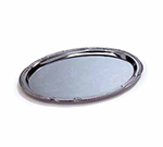 Tablecraft CT129 Oval Serving Tray, Embossed Pattern, 12 x 8.75 in, Chrome Plated