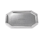 Tablecraft CT1420 Octagonal Serving Tray, Embossed Pattern, 14 x 20 in, Chrome Plated