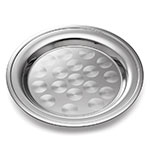 "Tablecraft CTX12R Round Serving Tray, Rolled Edge, 12"" Dia, Stainless Steel"