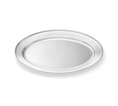 Tablecraft CTX1513 Oval Serving Platter, Rolled Edge, 15.5 x 10.5 in, Stainless Steel