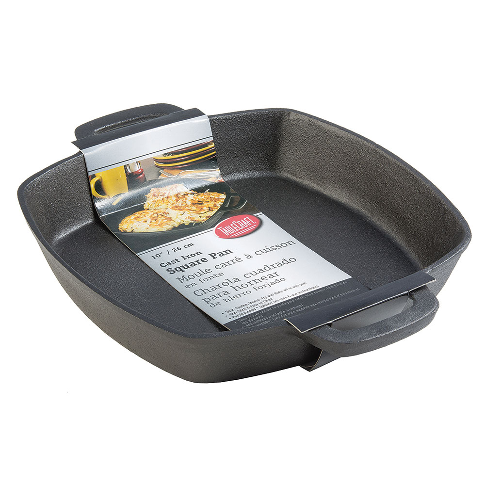 "Tablecraft CW30114 10"" Square Skillet w/ Handles, Cast Iron"