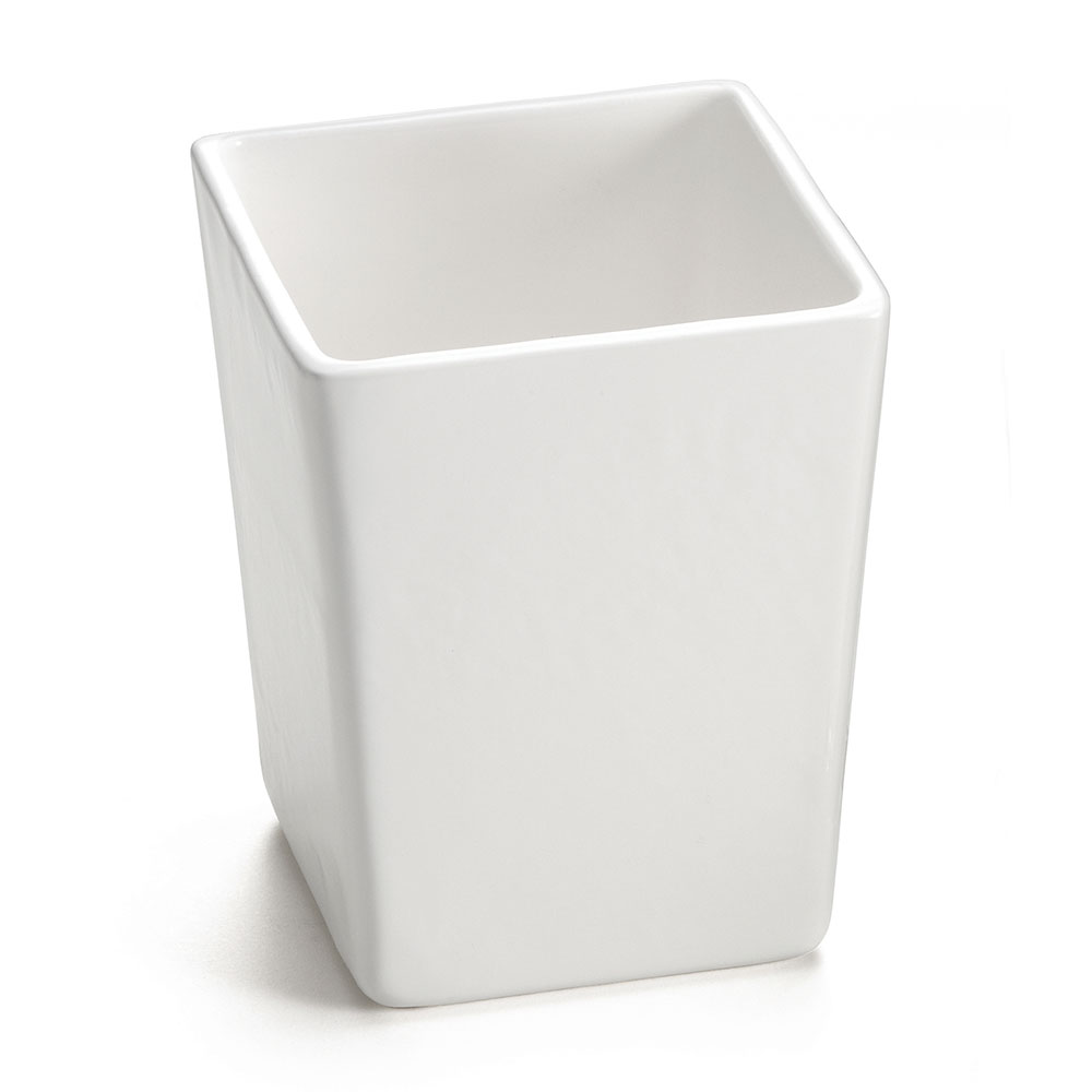 "Tablecraft CW4012W 4.75"" Square Bowl w/ 1.5-qt Capacity, White"
