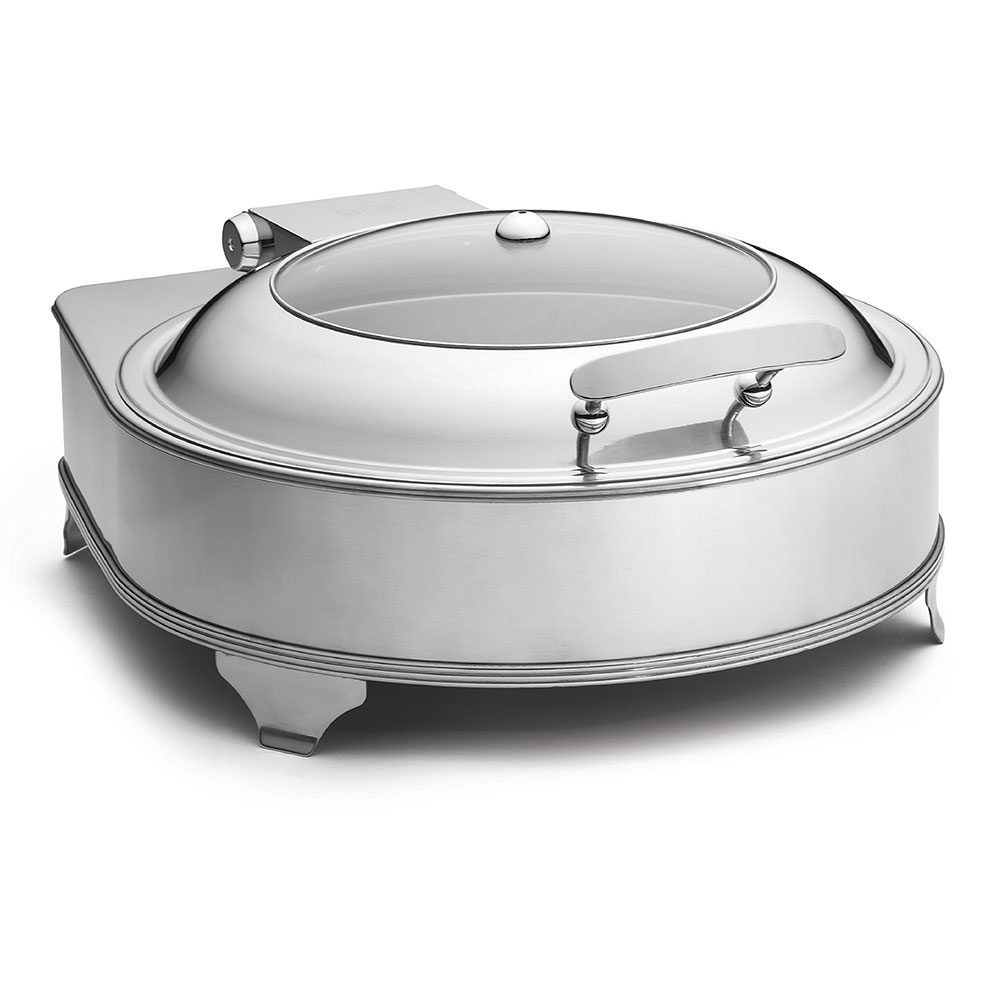 Tablecraft CW40164 Round Chafer w/ Hinged Lid & Electric Heat