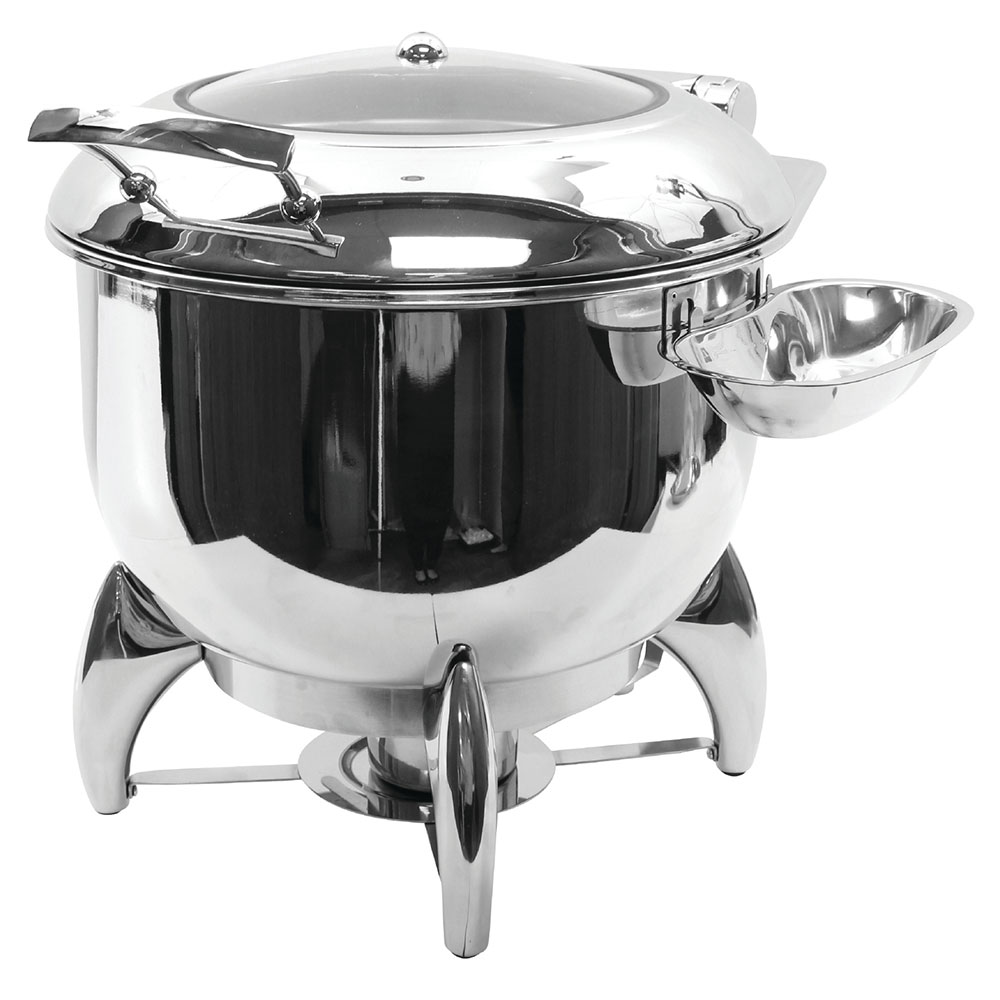 Tablecraft CW40178 11-qt Soup Chafer w/ Hinged Lid & Chafing Fuel Heat