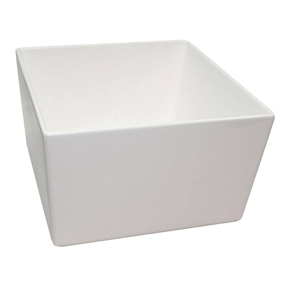 "Tablecraft CW4036W 10"" Square Bowl w/ 308-oz Capacity, White"
