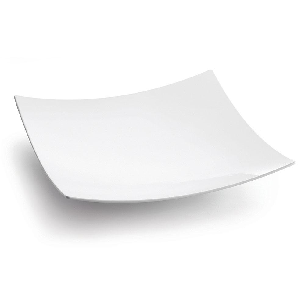 "Tablecraft CW4070W 19.75"" Square Bowl w/ 192-oz Capacity, White"