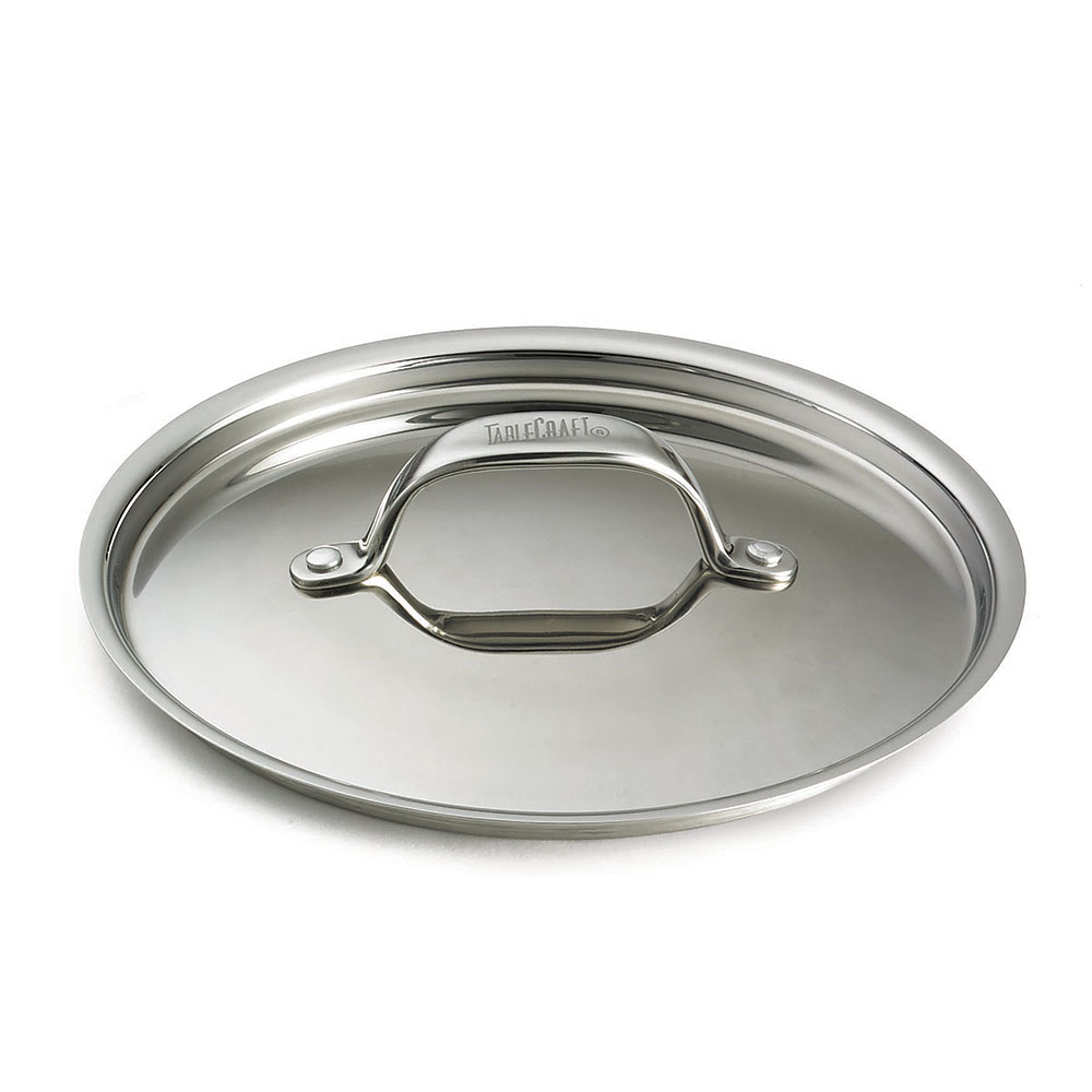 "Tablecraft CW7000L 6"" Mini Casserole Dish Cover, Stainless"