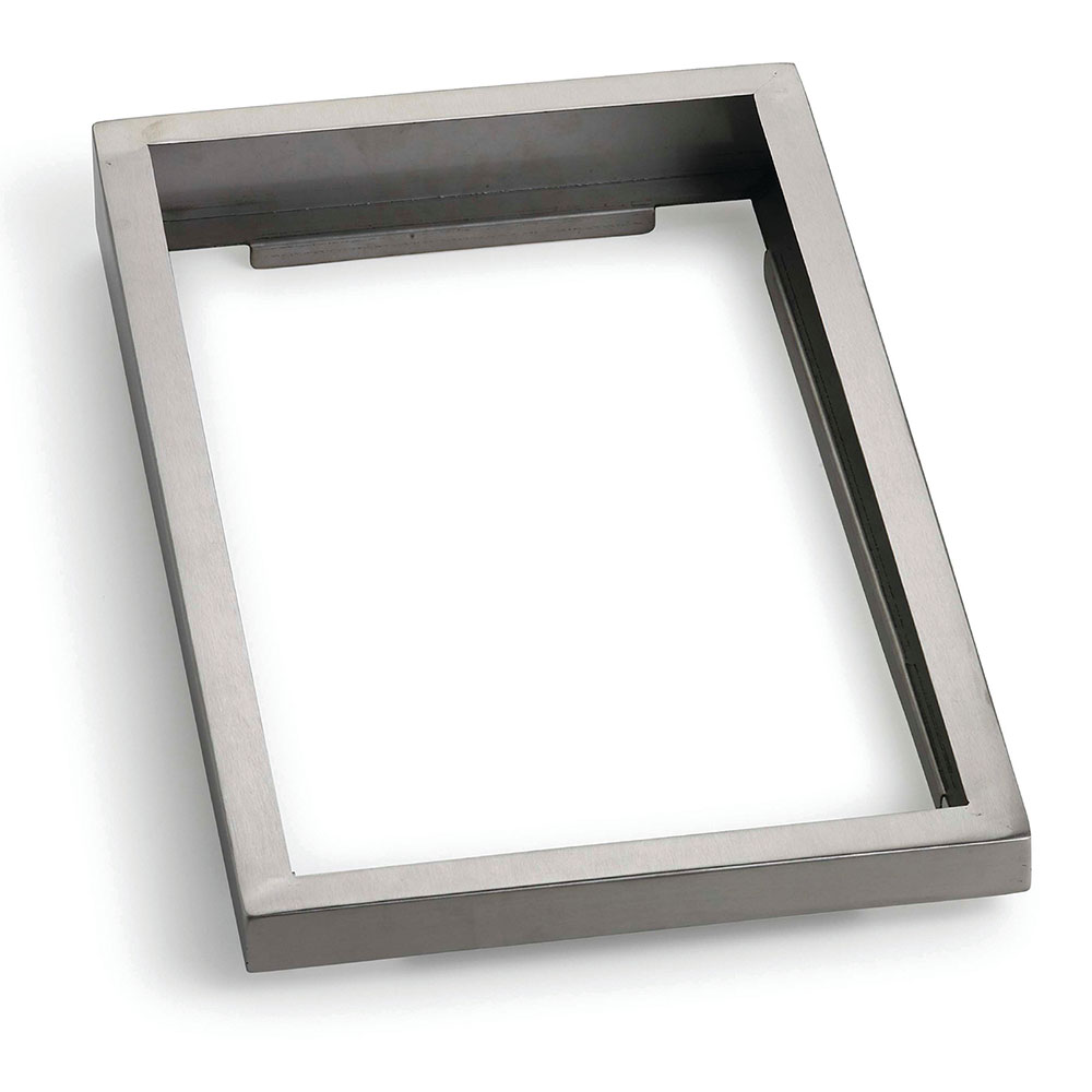 """Tablecraft CW900 Angled Display Riser, 21"""" x 13"""" x 2"""", Stainless"""