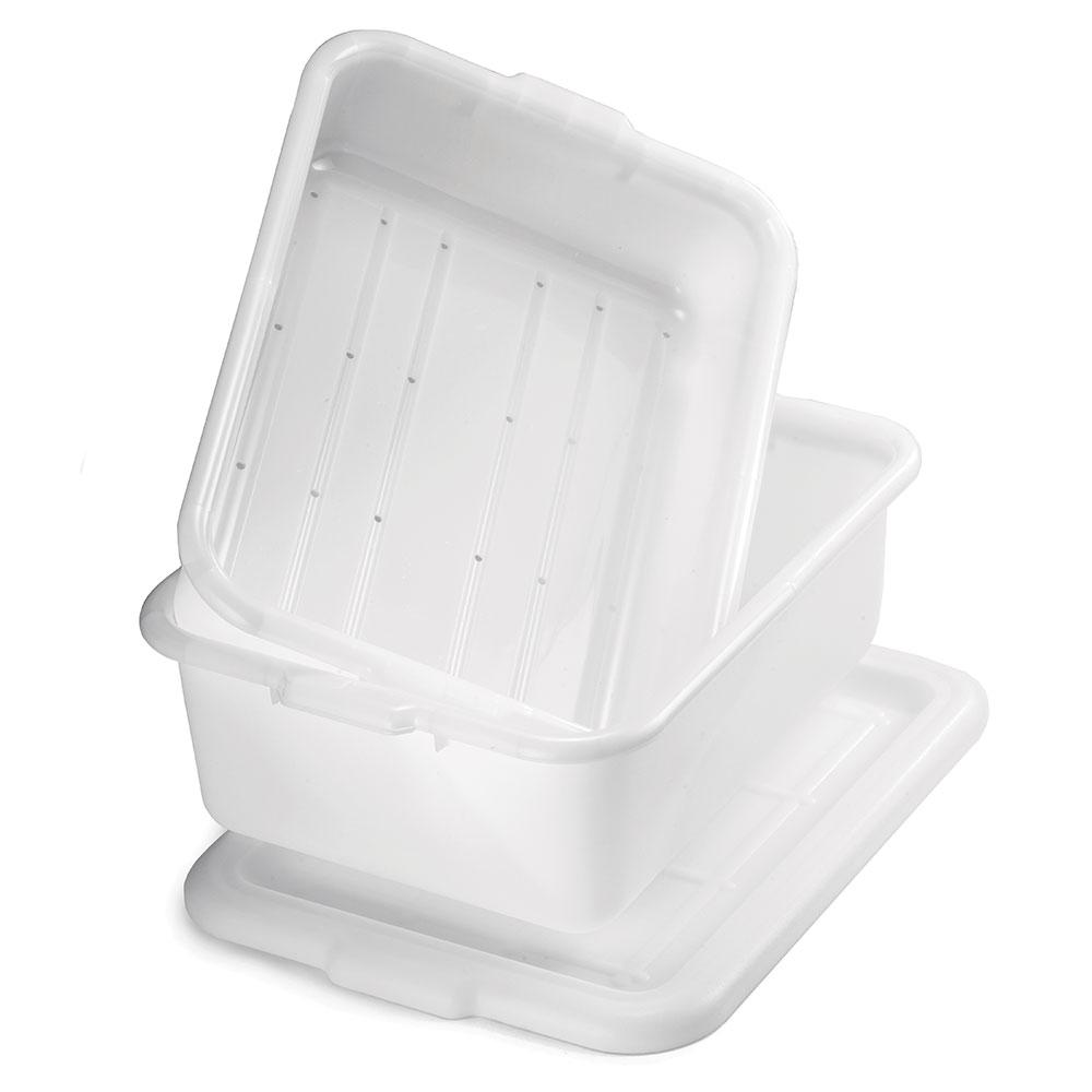 Tablecraft DBF77 White Polyethylene Freezer Combo Drain Box Set w/ Special Blend