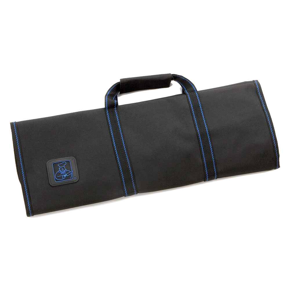 Tablecraft E1113 Black Ballistic Nylon Knife Roll w/ handle, Holds 13 Knives/Tools