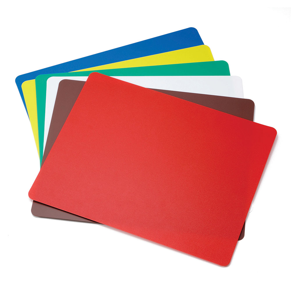 "Tablecraft FCB1218A Polyethylene Flexible Cutting Mat, 12 x 18"", NSF, Assorted Colors"