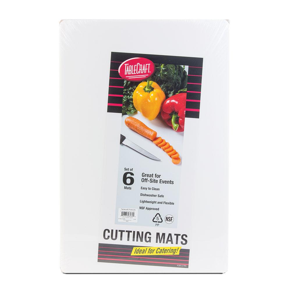 """Tablecraft FCB1520W Polyethylene Flexible Cutting Mat, 15 x 20"""", NSF, White"""