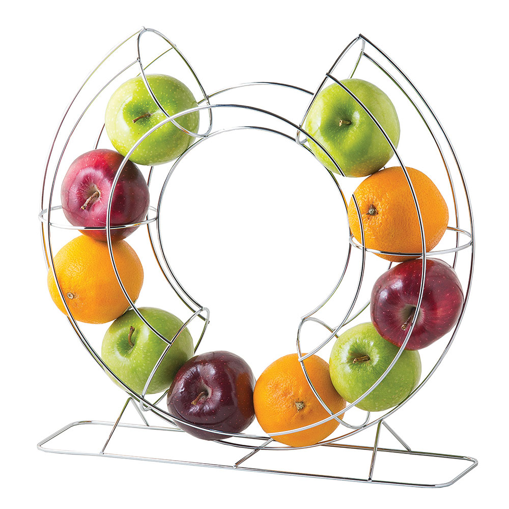 "Tablecraft FO1515 15.75"" Circular Fruit Basket - Chrome"