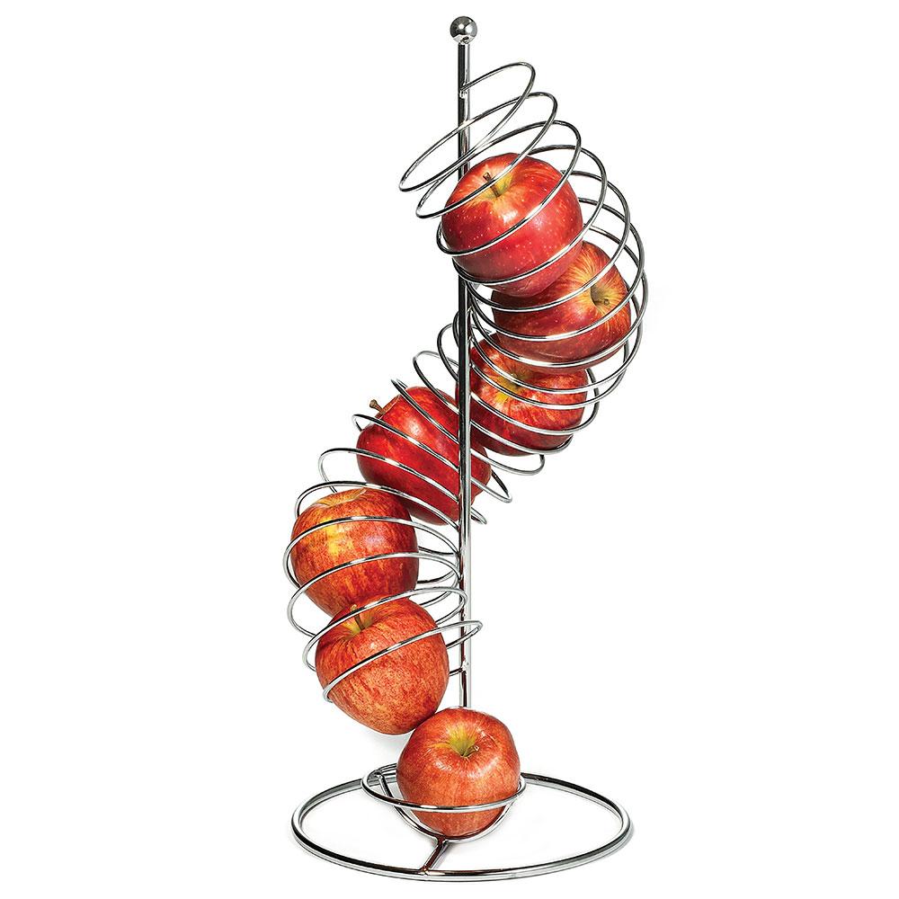 """Tablecraft FSP1507 Vertical Spiral Fruit Basket - 3-5/8x19"""" Chrome"""